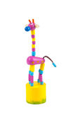 Wooden toy giraffe Royalty Free Stock Image