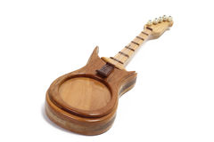 Wooden toy guitar Stock Images