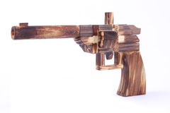 Wooden toy gun Stock Photography