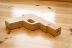 Wooden toy gun Royalty Free Stock Photos
