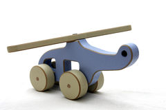 Wooden toy helicopter Stock Photography