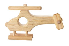 Wooden Toy Helicopter Royalty Free Stock Images
