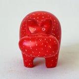 Wooden Toy hippo Stock Photo