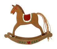 Wooden toy horse for rocking Stock Image