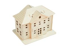 Wooden toy house Royalty Free Stock Photography