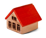 Wooden  toy house Stock Photos