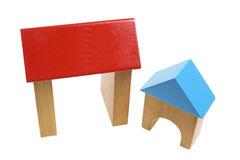 Wooden Toy Houses Stock Photo