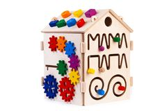 Wooden toy for kids royalty free stock photos
