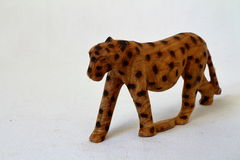 Wooden Toy leopard Royalty Free Stock Image
