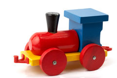 Wooden toy - locomotive Stock Image
