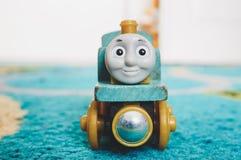 Wooden toy locomotive Stock Photos