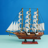Wooden toy model of sailing vessel (#1) Royalty Free Stock Photography