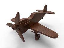 Wooden toy plane Stock Image