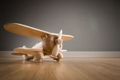 Wooden toy plane Stock Photos