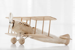 Wooden toy plane Royalty Free Stock Photography