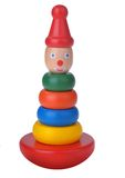 Wooden toy pyramid Royalty Free Stock Image
