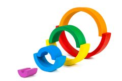 Wooden toy  rainbow Stock Image