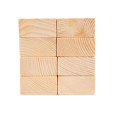 Wooden toy rectangle blocks isolated Stock Photos