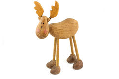 Wooden toy reindeer Stock Image