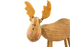Wooden toy reindeer Stock Photos