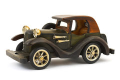 Wooden toy retro car Stock Photo