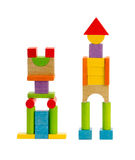 Wooden toy robot Royalty Free Stock Photo