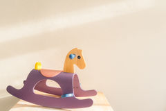 Wooden toy rocking horse Stock Photography
