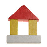 Wooden toy's house Stock Photography