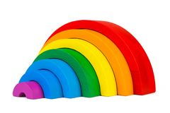 Wooden toy  rainbow Royalty Free Stock Images