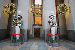 Wooden toy soldier bugler Christmas decoration at the Rockefeller Center Stock Image