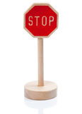 Wooden toy stop sign (Stopschild) Royalty Free Stock Photo