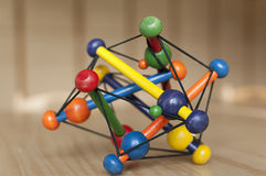 Wooden toy with strings royalty free stock image