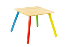Wooden toy table Royalty Free Stock Photography