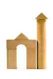 Wooden toy, tower Stock Photography
