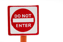 Wooden toy  traffic sign: Do not enter Royalty Free Stock Photo