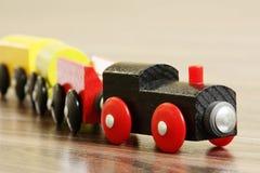 Wooden Toy Train. Photo Wooden Toy Train.Wooden locomotive Royalty Free Stock Photo