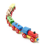 Wooden toy train Royalty Free Stock Image