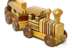Wooden toy train Royalty Free Stock Photo