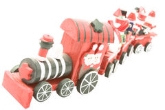 Wooden toy train (2) Stock Photo