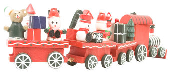 Wooden toy train (3) Royalty Free Stock Photography