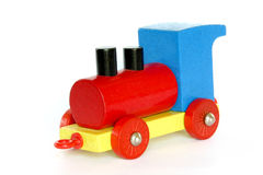 Wooden Toy Train. Studio Photo Wooden Toy Train Royalty Free Stock Photography
