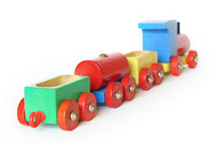 Wooden Toy Train. Studio Photo Wooden Toy Train Royalty Free Stock Image