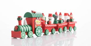Wooden toy train with colorful blocs isolated. Beautiful wooden toy train with colorful blocs isolated stock photos