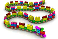 Wooden toy train vector illustration