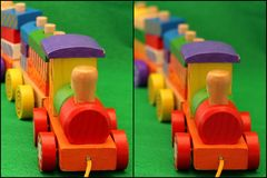 Wooden toy train Royalty Free Stock Images