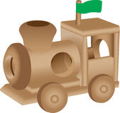 Wooden toy train illustration Royalty Free Stock Photo