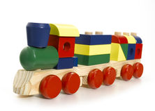 Wooden toy train Stock Photography