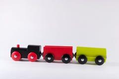 Wooden Toy Train Set Stock Photos