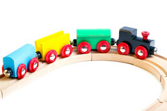 Wooden toy train Stock Photos