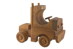 Wooden toy truck Royalty Free Stock Image